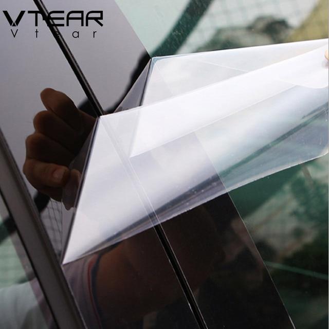 Vtear For Kia Rio 3 Rio 4 X-Line sticker window B C pillar cover Glossy black trim anti scratch Exterior car-styling accessories 2