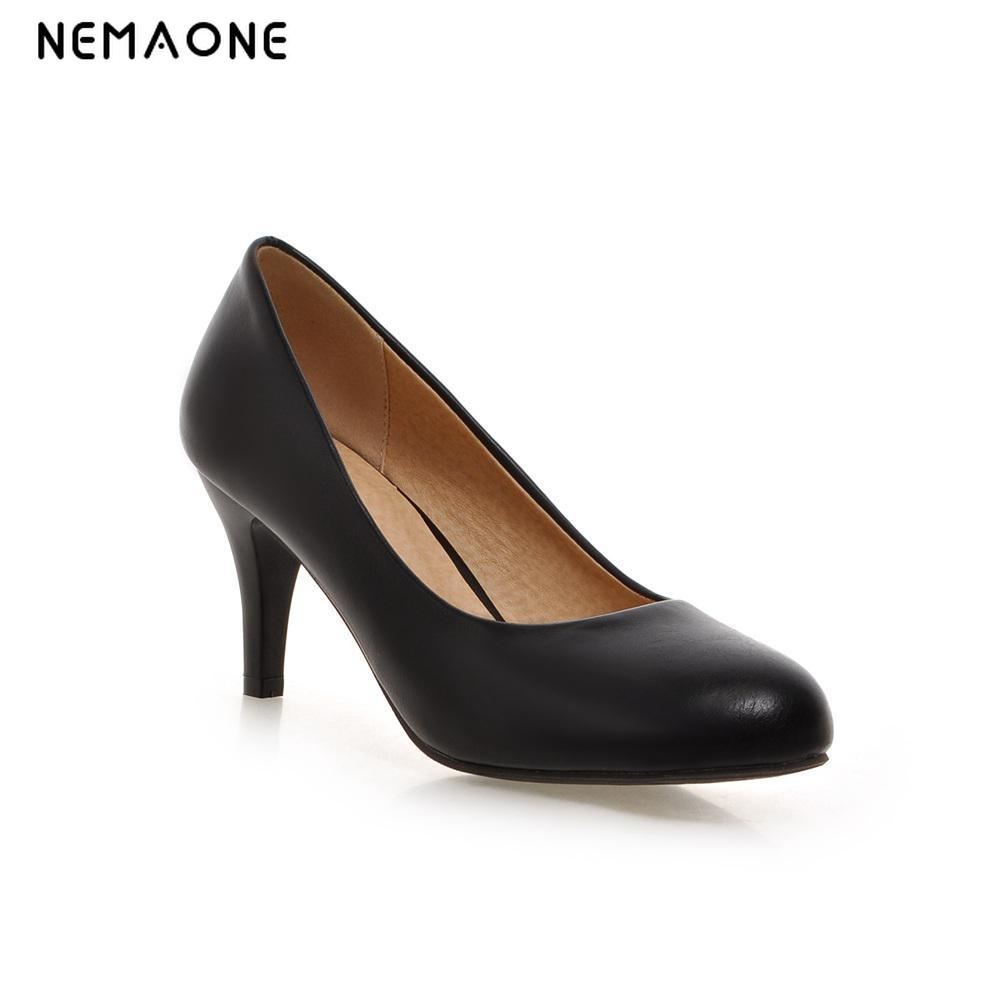 Fashion Wedding Party Lady Platform Women High Heels Women Pumps and Women's Shoes High Thin Heels Pumps Size 34-39 black white cicime women s heels thin heel spikes heels solid slip on wedding fashion leisure casual party dressing high heel platform pumps