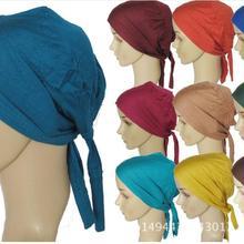 D8 20pcs высококачественный хлопковый Хиджаб внутренний галстук-шарф мусульманский головной убор можно выбрать цвета