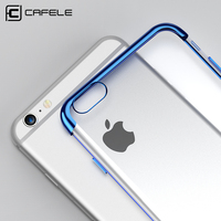 Cafele Original Soft TPU Phone Case for iPhone 6 / 6S / 6 Plus / 6S Plus Colorful Plating TPU Phone Cover for iPhone 6 Series