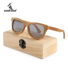 BOBO BIRD мужские и женские мужские деревянные бамбуковые солнцезащитные очки, женские очки ручной работы, спортивные поляризованные очки в деревянной коробке, Прямая поставка