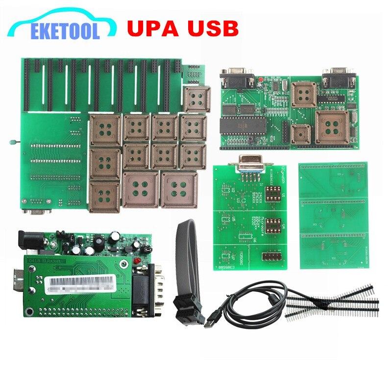 Prix pour Auto Série Programmeur Adaptateurs UPA USB V1.3 SW 1.3.0.14 r2 Vert Adaptateur Meilleure Qualité EEPROM ECU Tuning Outil UUPROG V1.3