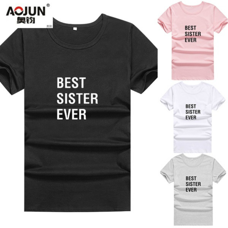e27001c2c Detail Feedback Questions about BEST SISTER EVER Printed Best Friends T  Shirt 2018 O neck Harajuku Bff T shirt Women Tops Hipster Tunic Tee Shirt  Femme on ...