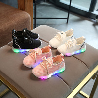 New 2017 European Cool Kids Sport Sneakers LED Lighted Casual Baby Girls Boys Shoes Fashion Toddler