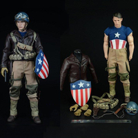 Пользовательские Второй мировой войны видения Капитан Америка боевой комплект одежды F 12 дюйм(ов) мужского тела мужской фигурки