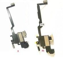Pour iPhone XS/ XS Max XR X 11 pro max capteur de lumière de proximité ambiante ruban de câble flexible avec des pièces de rechange de haut parleur doreille