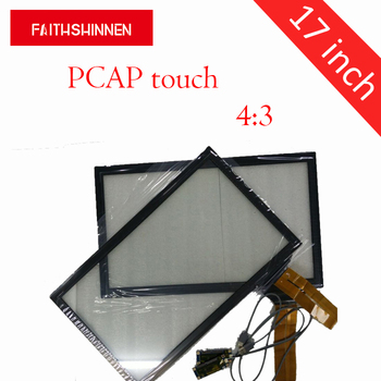 17 inch 4:3 projected capacitive touch screen panel, USB interface, open frame capacitive touch screen