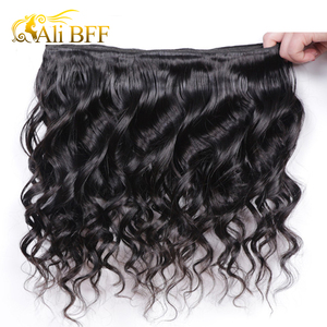 Image 5 - עלי BFF מלזי Loose גל חבילות עם פרונטאלית סגירת רמי שיער טבעי חבילות עם פרונטאלית סגירת קופצני תלתל Dyeable