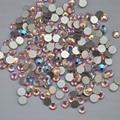 Lt. Rosa AB ss3, Ss4, Ss5, Ss6, Ss8, Ss10, Ss12, Ss16, Ss20, Ss30 cristal de volta plana não Hotfix Nail Art cola em strass