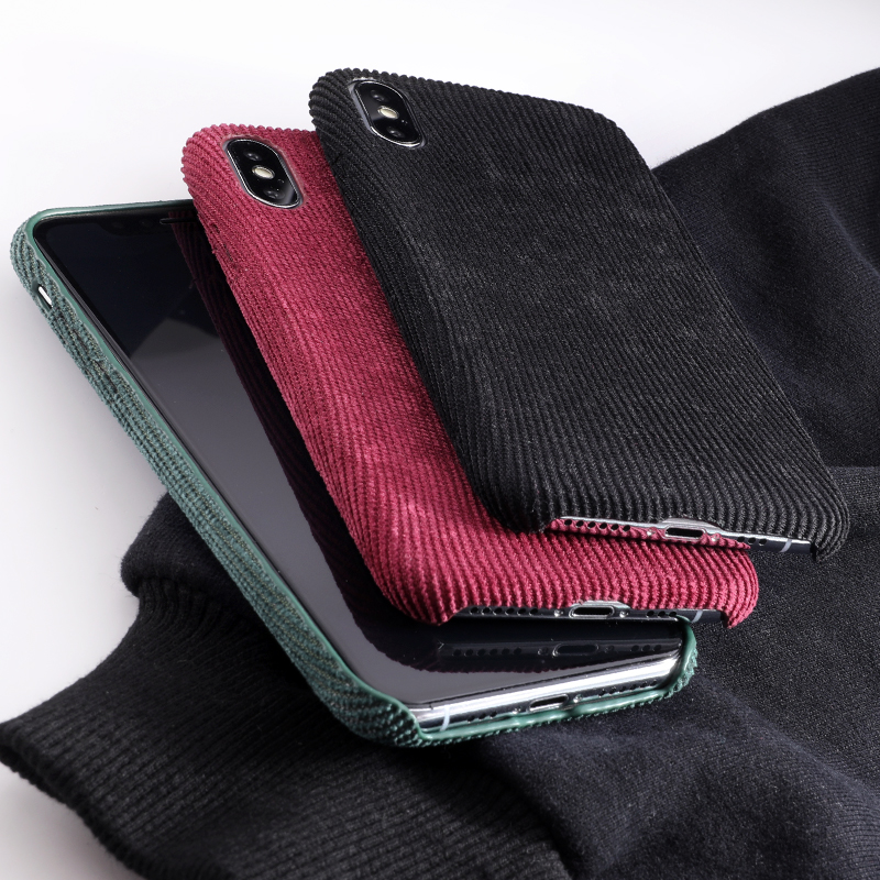 SoCouple Plush Fabrics Phone Case For iphone X 7 8 6 6S plus Case For iphone Xs max XR Cloth Texture Soft Back Cover Capa Fundas (5)
