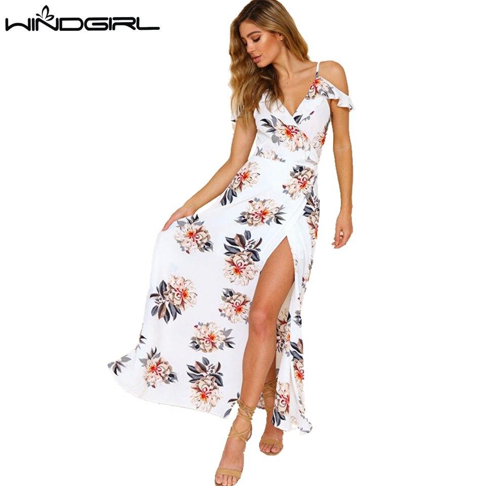 reputable site 62de5 b3071 Windgirl lunghi abiti estivi donna casual maxi floreale ...