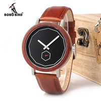 BOBO BIRD Watches Men Women Cool Metal Wood Timepieces Japan Movement Quartz Watches Gift Box Accept Logo Drop Shipping Women Quartz Watches