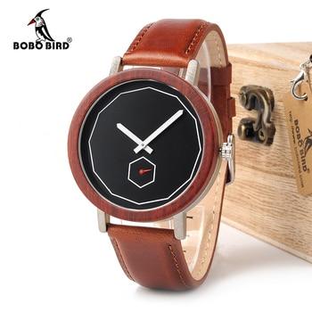 BOBO BIRD Watches Men Women Cool Metal Wood Timepieces Japan Movement Quartz Watches Gift Box Accept Logo Drop Shipping Women Quartz Watches