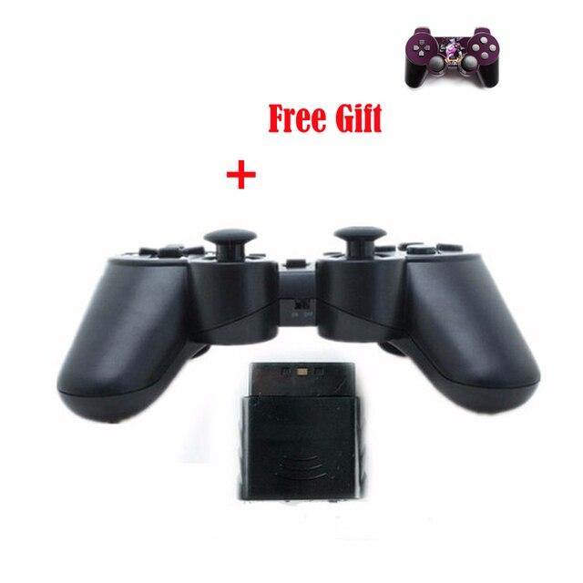 Top venda para ps2 controlador de jogo sem fio com logotipo para sony controle para ps2 gamepad sem fio joystick