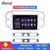 2G RAM 32G ROM 9 inch Android 8.1 car multimedia system for tiguan 2010 2018 car gps radio navigation