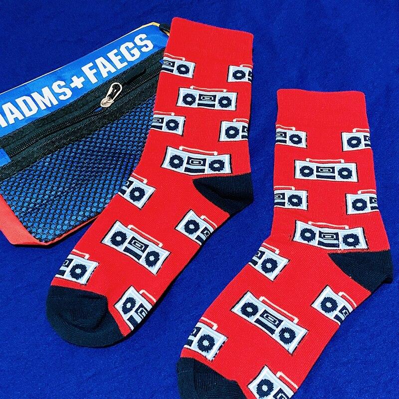 2019 Harajuku Men Hip Hop Hipster Socks Funny Dinosaur amp Shark Patterned Cotton Happy Socks Men Cotton Art Warm Crew Colored Sox in Men 39 s Socks from Underwear amp Sleepwears