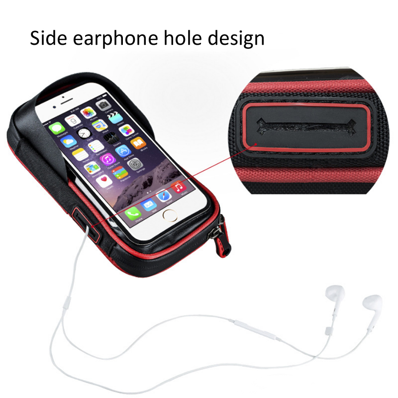 Bike Handlebar Phone Waterproof Bag Cycling Motorcycle Riding Outdoor Sport Steering Wheel Mobile Phone GPS Holder Stand Case in Phone Holders Stands from Cellphones Telecommunications