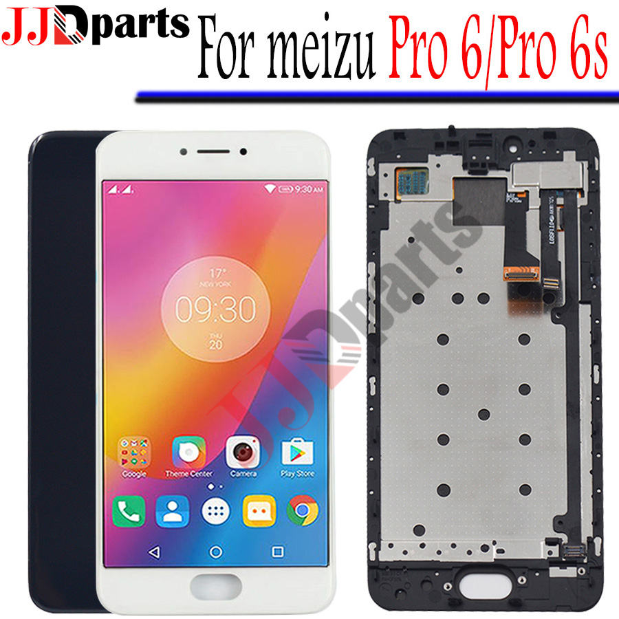 AMOLED 100 Tested For Meizu Pro 6 LCD Display Touch Screen Digitizer Meizu Pro 6 lcd