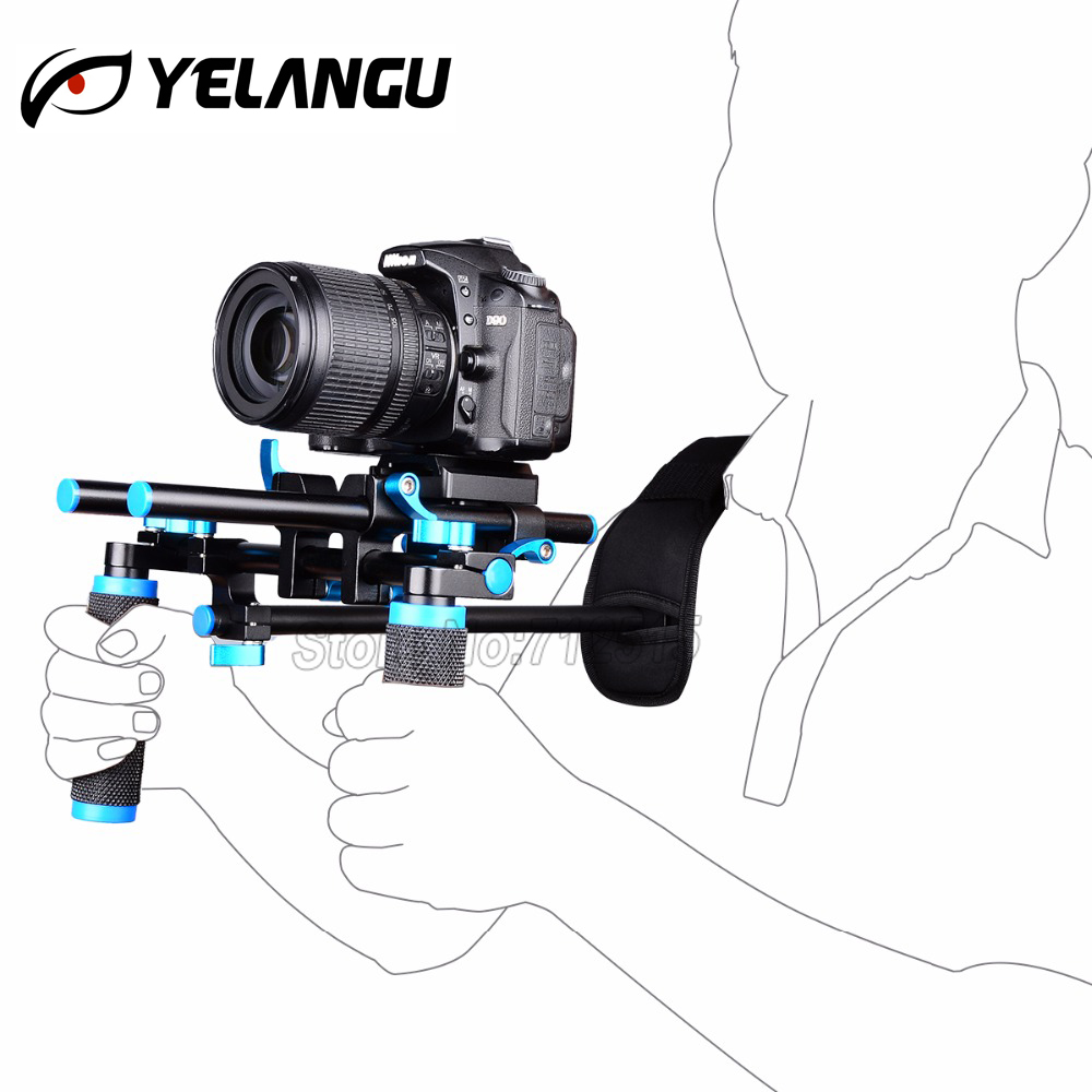 цена на YELANGU D4 DSLR Rig Movie Kit Shoulder Mount Holder Easy For Shooting DV 5d mark ii 6d d800 d610 Camera stabilizer steadicam