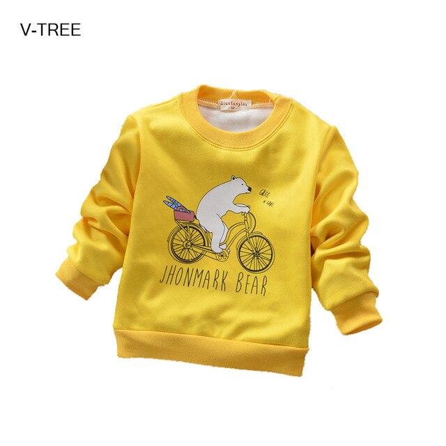 Мальчики и девочки новый осень одежда ребенка толстый бархат пальто С Длинными рукавами шею футболка