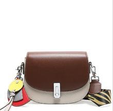 Women's Designer Handbag 2019 Fashion New High quality PU Leather Women bag Contrast Lady Tote Shoulder Messenger Bag