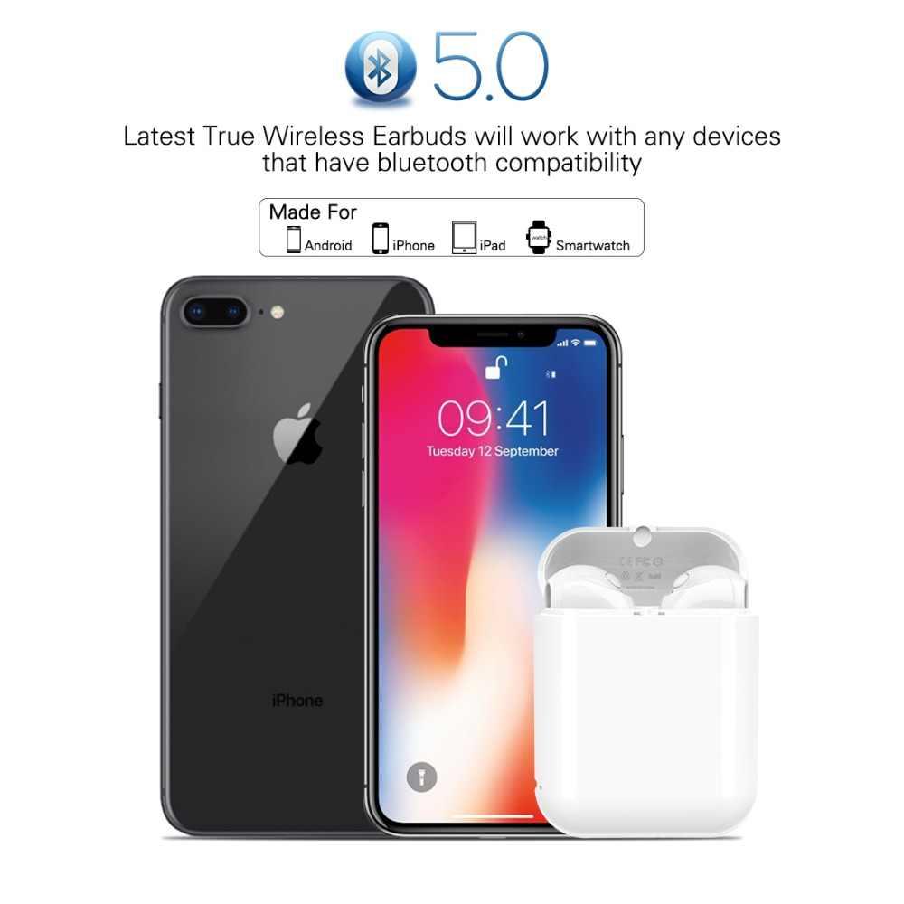 Langsdom słuchawki bezprzewodowe Bluetooth prawda bezprzewodowe słuchawki słuchawki douszne słuchawki stereo do telefonu Xiaomi HD komunikacji przenośny