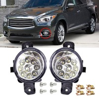 1 Pair 9 LED Front Fog Light Lamps DRL Daytime Running Driving Lights For Infiniti G37