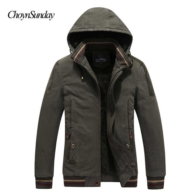 冬のジャケットの男性通気性暖かい雪厚手のフリース男性のカジュアルパーカーコート綿フード付きサイズ x Y