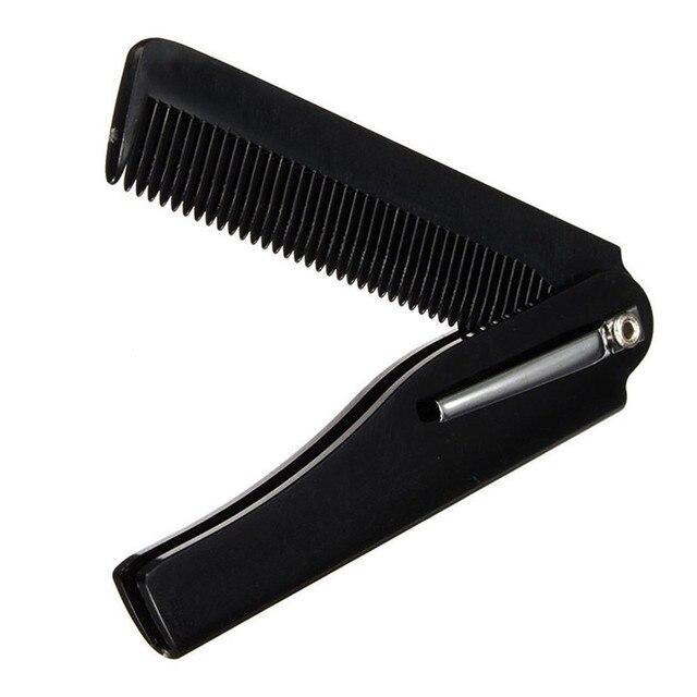 1 шт. мужская женская красота ручной работы складной карманный зажим для волос Расческа для усов и бороды Бесплатная доставка