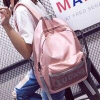 Fashion Women Letter Young Backpack Teenager Girls Nylon School Bag Female Net Tide Mochila Escolar Waterproof