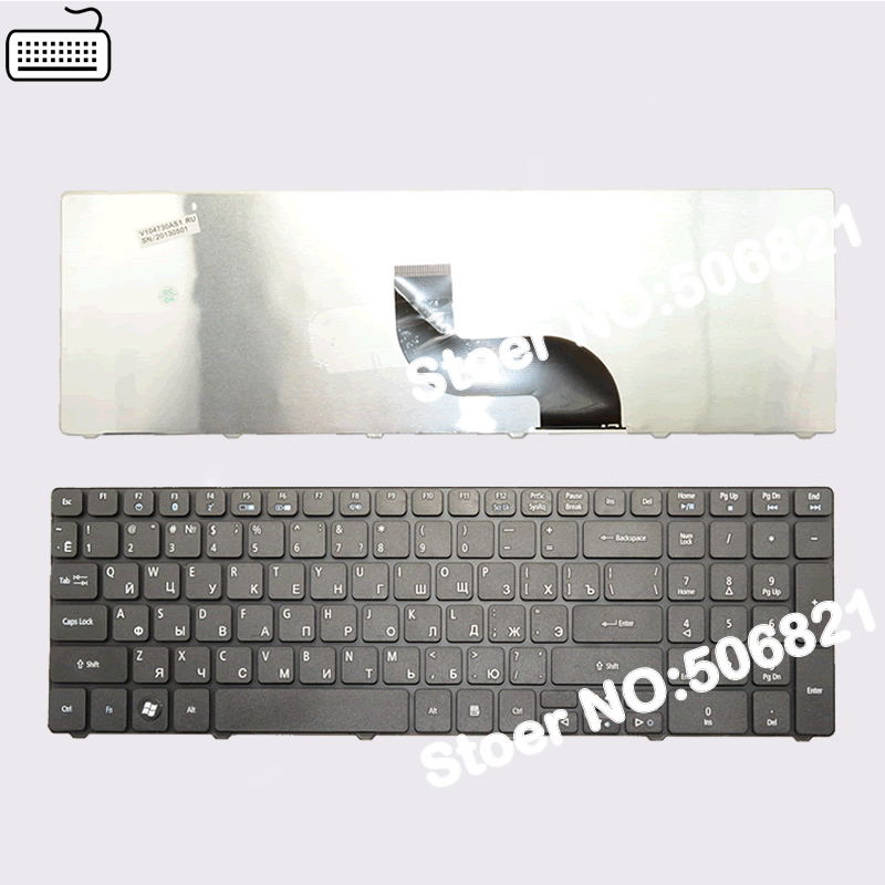 JIGU Russian Keyboard for Acer for Aspire 7741G 7741Z 7745G 8942 8942G RU Black laptop keyboard image