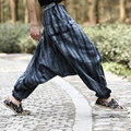 2017 New fashion printing casual trousers trousers linen all-match loose plus size trousers wide leg pants singer costumes