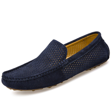 Summer Genuine Leather Men's Loafers Shoes Breathable Driving Shoes Moccasins Hollow Male Casual Boat Shoes Zapatillas XK032208