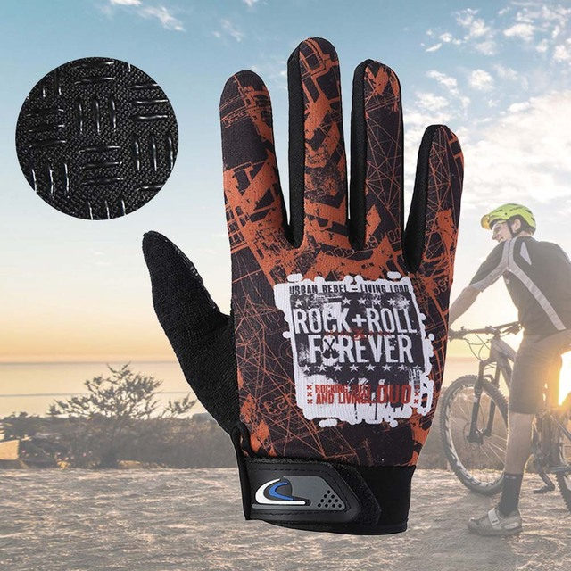 08a6c901827 1 Pair Cycling Gloves Full Finger Shockproof Bike Touchscreen Unisex Hiking  Ridding Gloves ASD88-in Cycling Gloves from Sports   Entertainment on ...