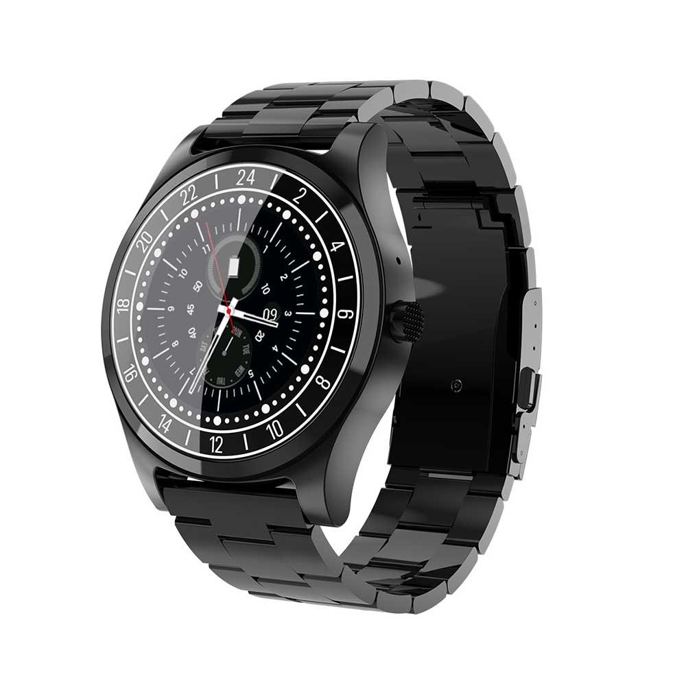 Smart Uhr DT19 Luxus Volle edelstahl Smartband Unterstützung Bluetooth Anruf Erinnern Musik Kamera für Männer Funktioniert business