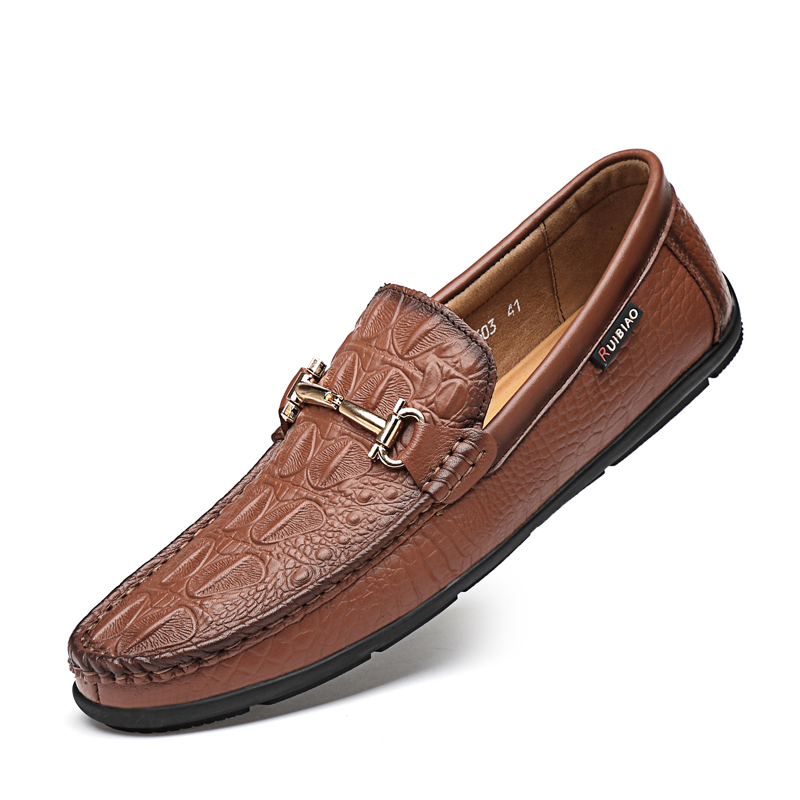 Men Loafers Luxury Party Shoes Genuine Leather Shoes Men Moccasins Slip On Casual Breathable Loafers Male Driving Shoes