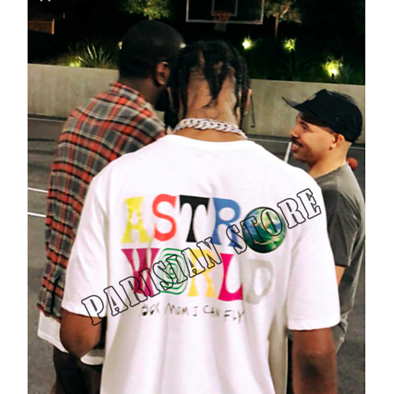 5e2360cde63 TRAVIS SCOTT ASTROWORLD CONCERT MERCH Summer men s and women s cotton t- shirts 2018 new products