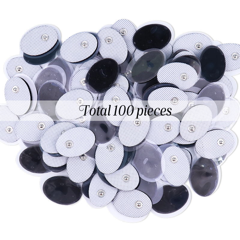 100Pcs 3.5mm Plug Reusable Gel Self Adhesive Electrode Pads For Tens Nerve Muscle Stimulator Relax Machine Slimming Massager