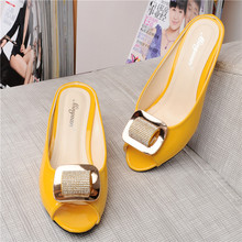 2016 New Fahion Shoes Woman Open Toe Rhinestone Sandals Soft Soles Casual Shoe Slippers For Girls 34-43