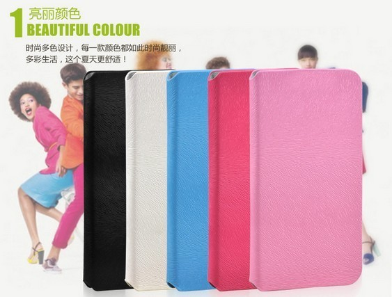 2 Pcs PU Leather Case For TCL IDOL X S950 cell phone, Choose Two Different Colours