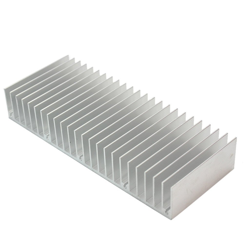 Silver 150x60x25mm Aluminum Heat Sink Radiator Heatsink For Chip Projector VGA RAM LED Power Car Amplifier IC Heat Dissipation