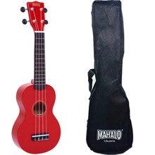 Mahalo MR1RD Укулеле сопрано с чехлом, струны Aquila, цвет красный, серия Rainbow