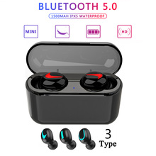 Wireless Bluetooth 5.0 earbuds in-ear stereo TWS headphone wireless earphones for Xiaomi, iphone