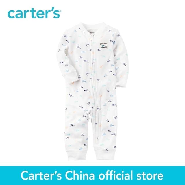 aa00387bb8bf Carter s 1pcs baby children kids Cotton Zip Up Footless Sleep   Play ...