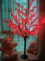 Libérez le bateau De Noël Nouvel an décor rouge Cerise Blossom Arbre Lumière 480 pcs LED Ampoules 1.5 m Hauteur 110/220VAC tronc Droit