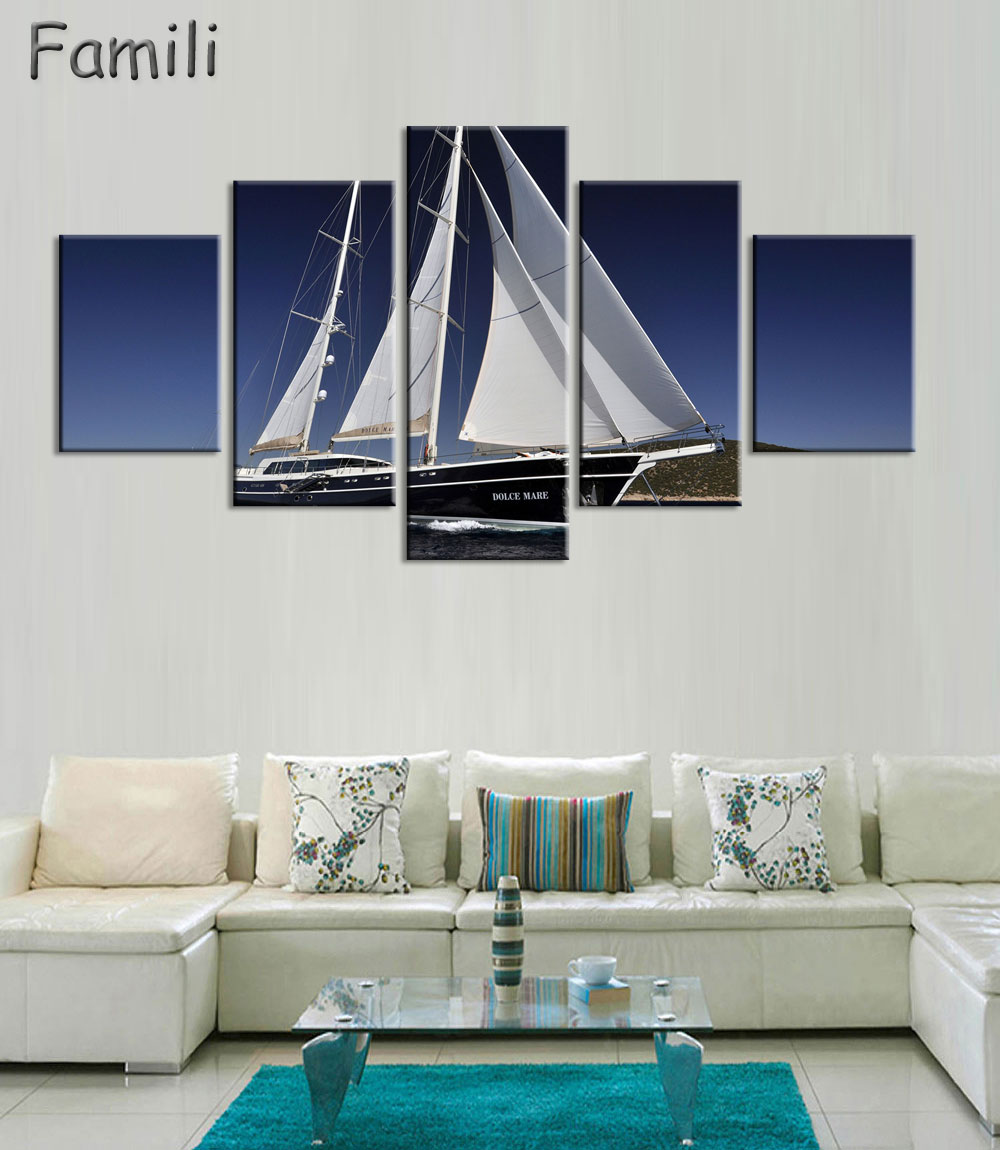 5Pieces High Quality Painting Home Living Room Wall Decor