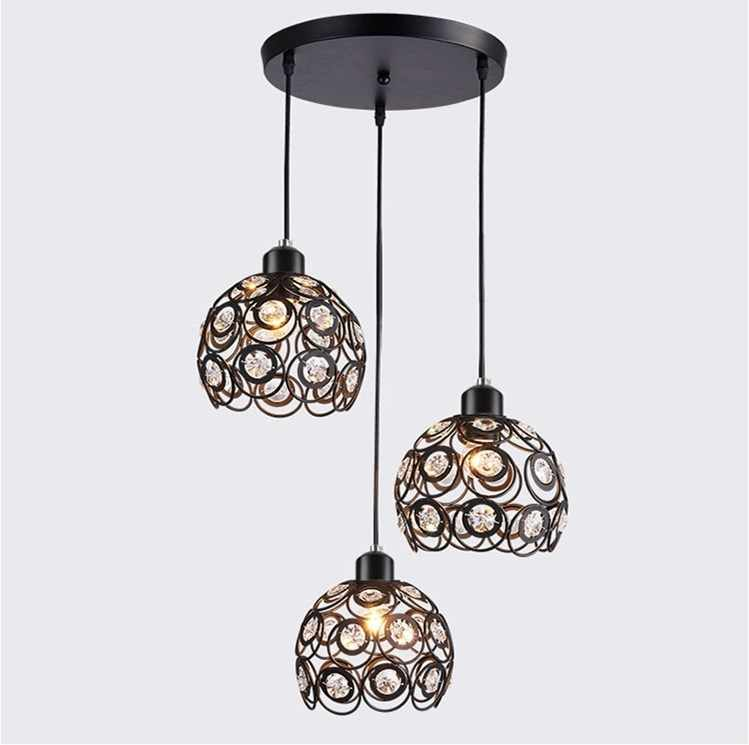 modern luster 3 heads lighting chandelier luminaria Pendant Lamp Holder With Wire  AC 110-220V Chandelier E27
