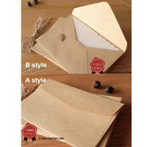 Vintage Natural Simple Kraft Paper Envelope,Greeting/Invitatioin Gift Envelop for Wedding/Xmas Party,High Quality 50pcs