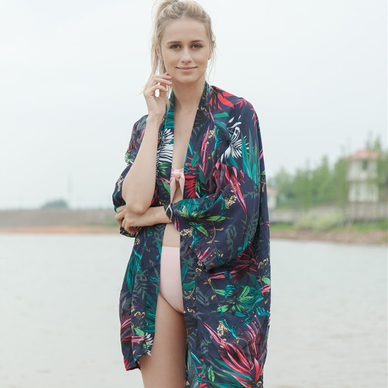 Bikini Mar Solar Traje Protección Boho As Verano Suelta Kimono Ropa Señora Baño 2018 De Tamaño Bata Camisa Impresión Mujer Más Moda Sexy N Picture CwwTOZq