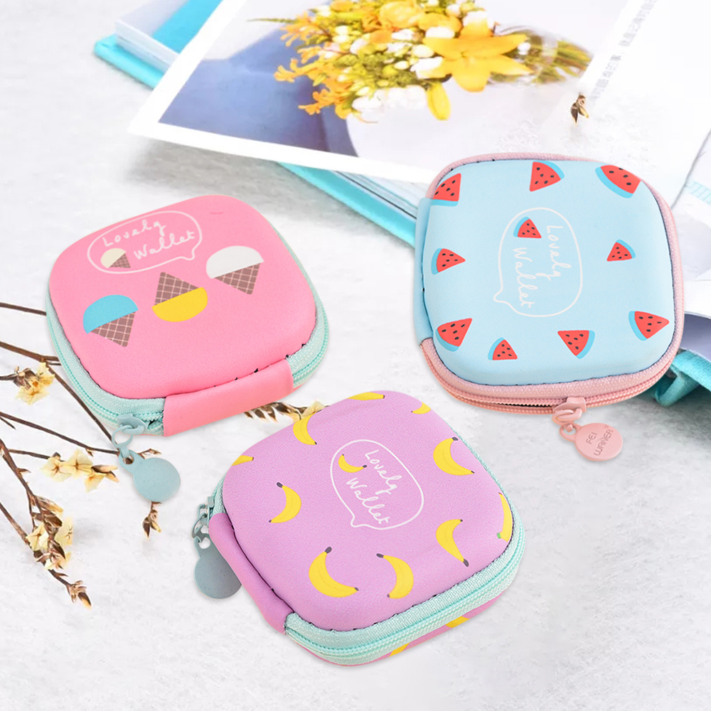Portable Headphone Storage Case Mobile Phone Data Cable Charger Digital Finishing Package Storage Box Headset Bag 7.2x7.2x3.2cm